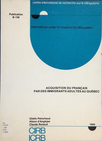 Cover of: Acquisition du français par des immigrants adultes au Québec | Gisèle Painchaud