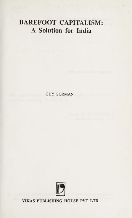 Barefoot capitalism by Guy Sorman