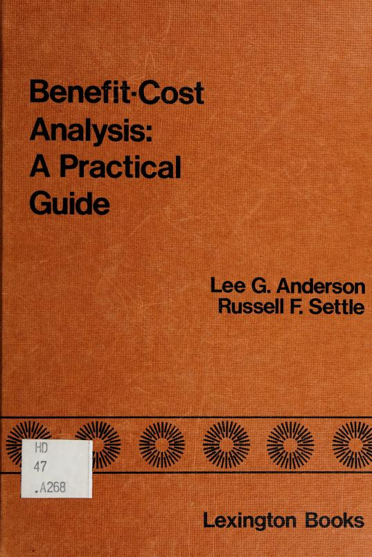 Benefit-cost analysis by Lee G. Anderson