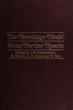 Cover of: The Brookings model | Edited by James S. Duesenberry [and others]