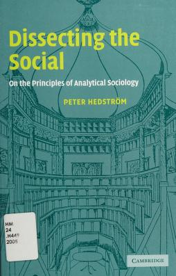 Cover of: Dissecting the social | Peter Hedström