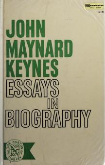 Cover of: Essays in Biography | J. M. Keynes