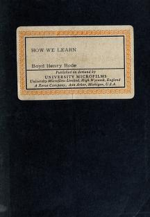 Cover of: How we learn | Boyd Henry Bode