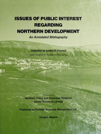 Cover of: Issues of public interest regarding northern development | Lynda M. Howard