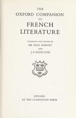 Cover of: The Oxford companion to French literature | Sir Paul Harvey