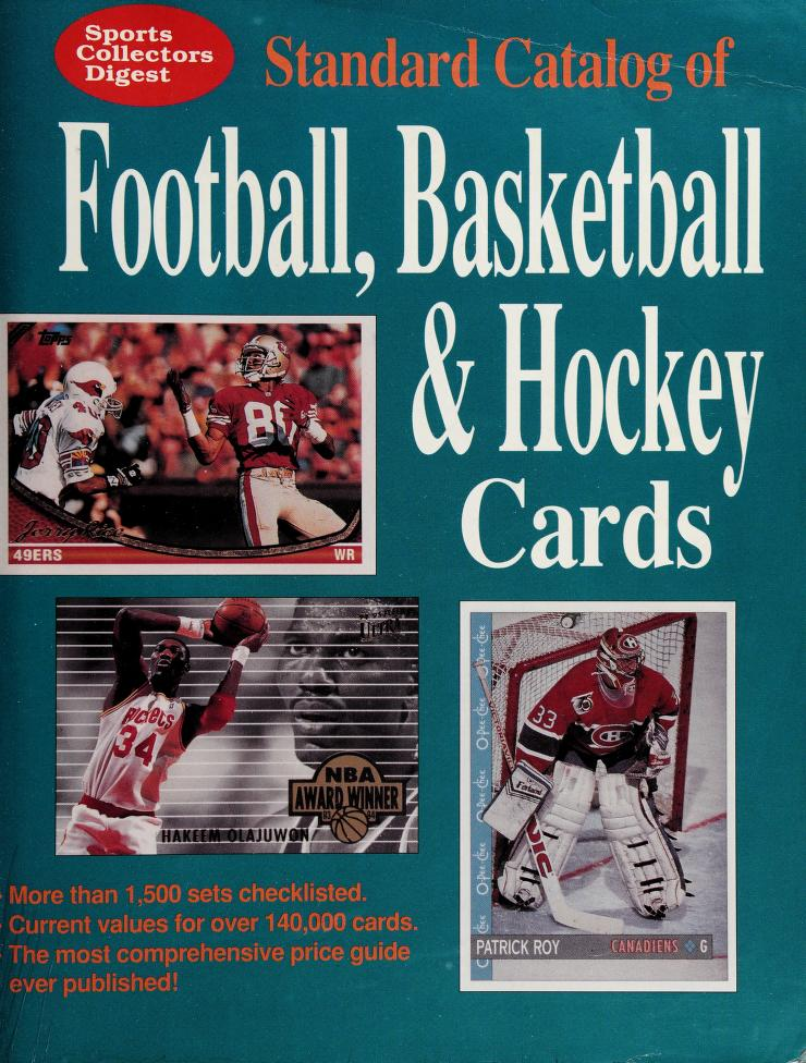 Sports Collectors Digest Standard Catalog of Football, Basketball & Hockey Cards by Sports Collectors Digest Staff
